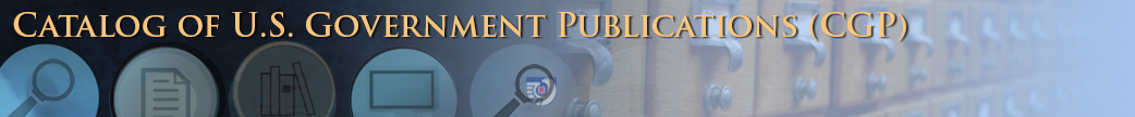 Catalog of U.S. Government Publications image banner
